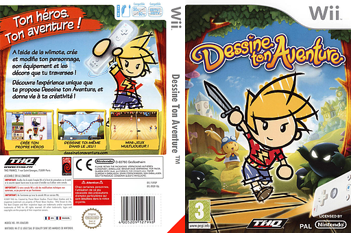 Dessine Ton Aventure pochette Wii (R9DP78)