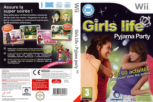 Girls Life: Pyjama Party pochette Wii (R9LP41)