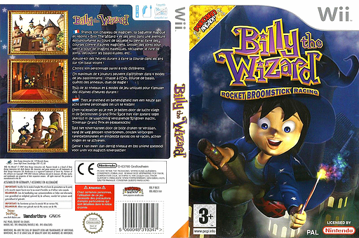 Billy the Wizard:Rocket Broomstick Racing pochette Wii (RBZPUG)
