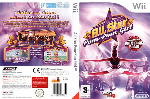 All Star Pom-pom Girl pochette Wii (RCXP78)