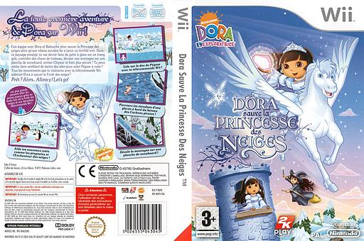 Dora sauve la Princesse des Neiges pochette Wii (RDPX54)