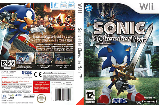 Sonic et le Chevalier Noir pochette Wii (RENP8P)