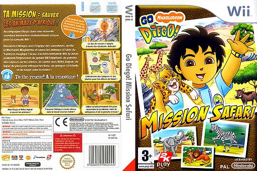 Go Diego! Mission Safari pochette Wii (REQY54)