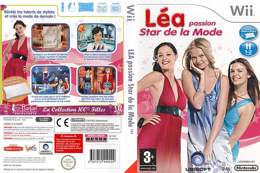 Léa Passion Star de la Mode pochette Wii (RFZP41)