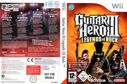 Guitar Hero 3:Legends of Rock pochette Wii (RGHP52)