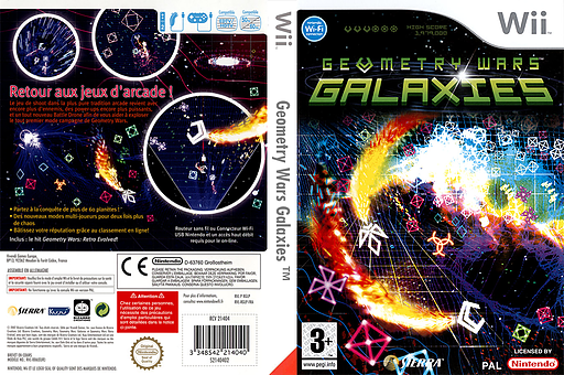 Geometry Wars : Galaxies pochette Wii (RGLP7D)