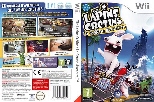 The Lapins Crétins:La Grosse Aventure pochette Wii (RGWX41)