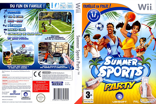 Famille en folie ! Summer Sports Party pochette Wii (RI6P41)