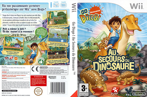 Go, Diego, Go ! Au Secours du Dinosaure pochette Wii (RIGP54)