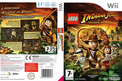 LEGO Indiana Jones :La Trilogie Originale pochette Wii (RLIP64)