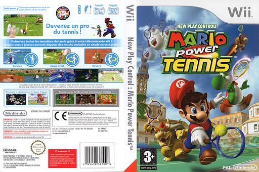 Mario Power Tennis pochette Wii (RMAP01)