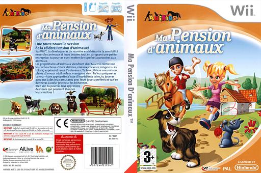 Ma Pension d'Animaux pochette Wii (RMNDFR)
