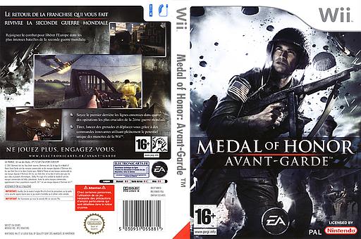 Medal of Honor : Avant-Garde pochette Wii (RMVP69)
