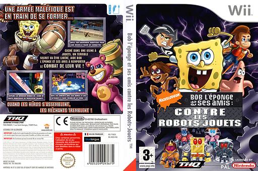 Bob l'Eponge et ses Amis:Contre les Robots-Jouets pochette Wii (RN3X78)
