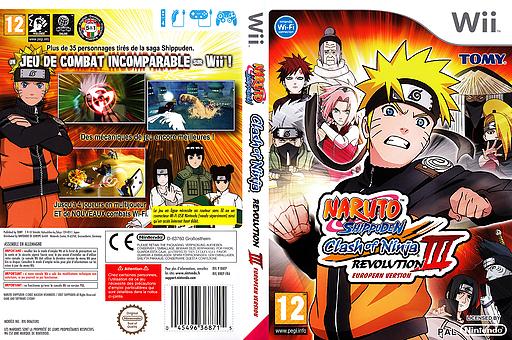 Naruto Shippuden:Clash of Ninja Revolution 3 pochette Wii (RNEPDA)