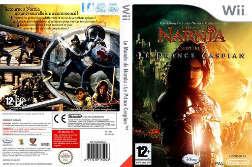 Le Monde De Narnia Chapitre 2:Le Prince Caspian pochette Wii (RNNY4Q)