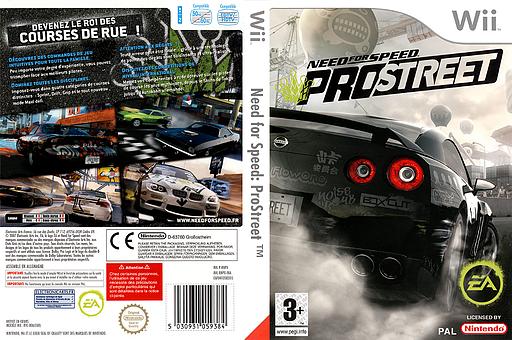 Need for Speed:ProStreet pochette Wii (RNPP69)
