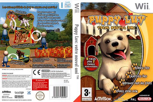 Puppy Luv:Votre Nouvel Ami pochette Wii (RPTP52)