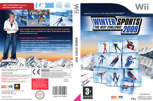 Winter Sports 2009 : The Next Challenge pochette Wii (RRUFRT)