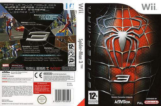 Spider-Man 3 pochette Wii (RS3X52)