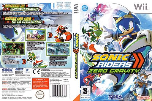 Sonic Riders:Zero Gravity pochette Wii (RS9P8P)
