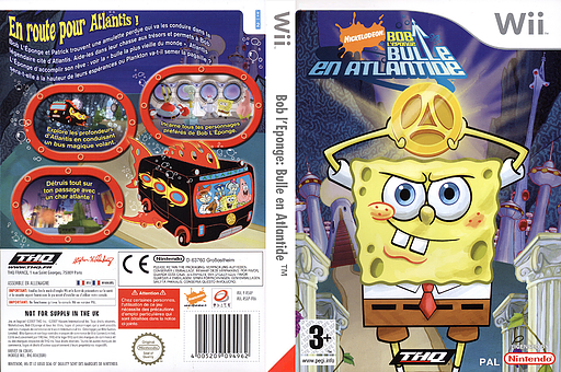 Bob l'Eponge:Bulle en Atlantide pochette Wii (RSAP78)