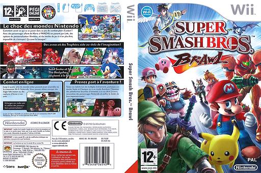Super Smash Bros. Brawl pochette Wii (RSBP01)