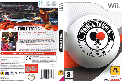 Rockstar Games Presents : Table Tennis pochette Wii (RT3P54)