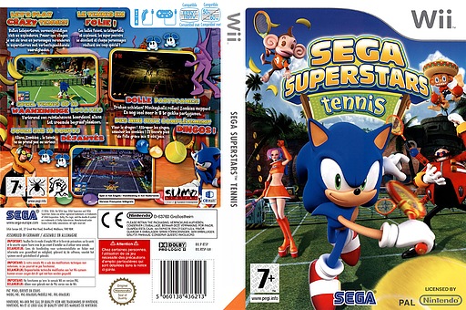 SEGA Superstars Tennis pochette Wii (RT5P8P)
