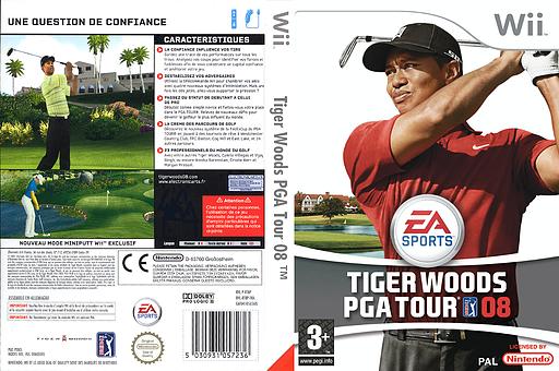 Tiger Woods PGA Tour 08 pochette Wii (RT8P69)