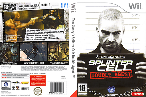 Tom Clancy's Splinter Cell:Double Agent pochette Wii (RTCP41)