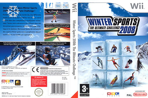 Winter Sports 2008 : The Ultimate Challenge pochette Wii (RUCXRT)