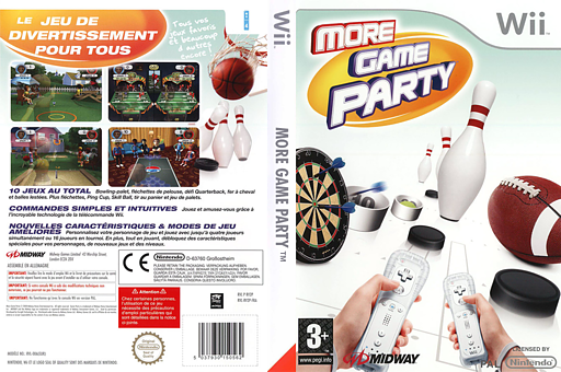 More Game Party pochette Wii (RV2P5D)