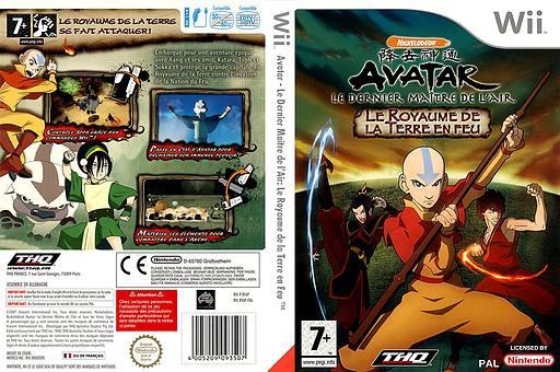 Avatar: Le Dernier Maître de l'Air - Le Royaume de la Terre en Feu pochette Wii (RVAP78)