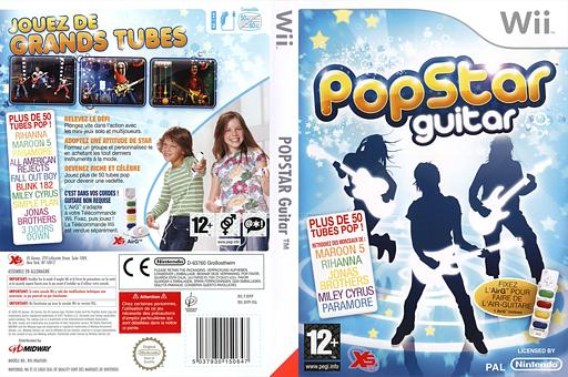 PopStar Guitar pochette Wii (RVPPFS)