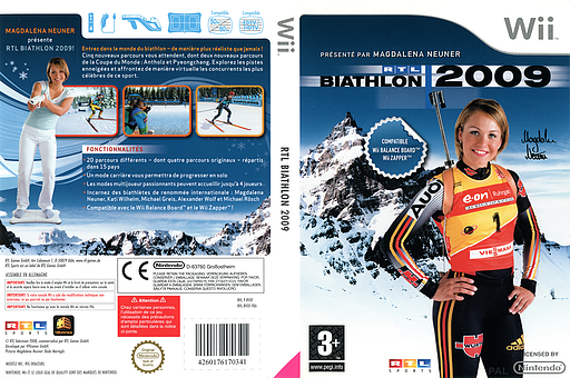RTL Biathlon 2009 pochette Wii (RVXFRT)