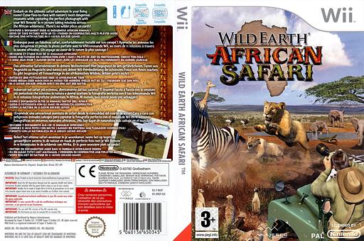 Wild Earth:African Safari pochette Wii (RWDP5G)
