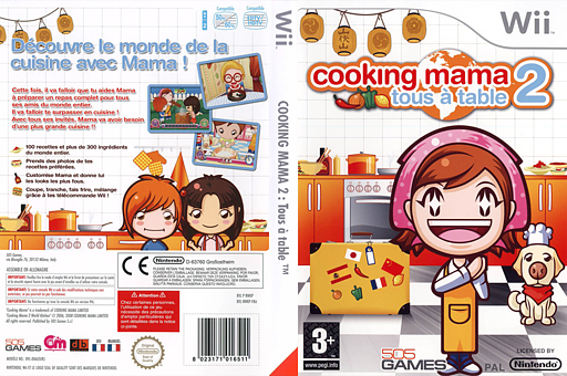 Cooking Mama 2 : Tous à Table pochette Wii (RWKPGT)