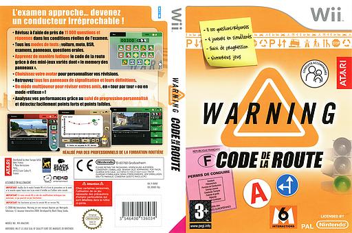 Warning : Code De La Route pochette Wii (RWNF70)