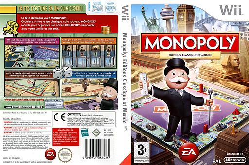 Monopoly pochette Wii (RWOP69)