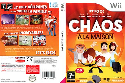Chaos à La Maison pochette Wii (RXHF5D)