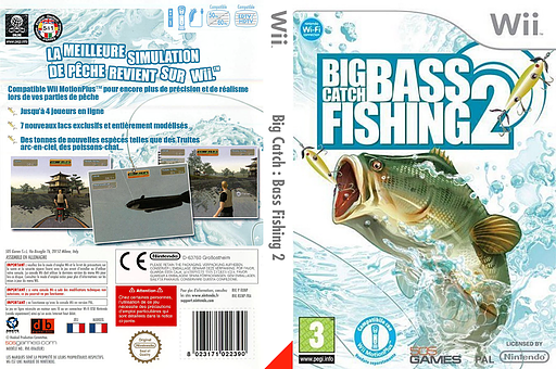 Big Catch Bass Fishing 2 pochette Wii (RXNPGT)