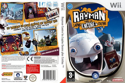Rayman Contre les Lapins Encore plus Crétins pochette Wii (RY2P41)