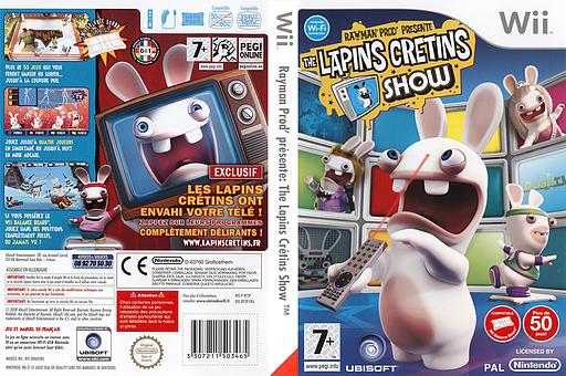 Rayman Prod' présente :The Lapins Crétins Show pochette Wii (RY3P41)