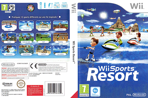 Wii Sports Resort pochette Wii (RZTP01)