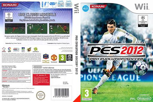 Pro Evolution Soccer 2012 pochette Wii (S2PPA4)