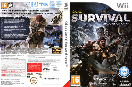 Cabela's Survival: Shadows of Katmai pochette Wii (SAJP52)