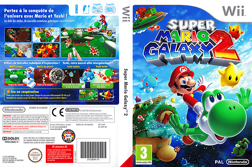 Super Mario Galaxy 2 pochette Wii (SB4P01)