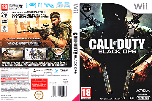Call of Duty : Black Ops pochette Wii (SC7F52)