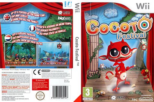 Cocoto Festival pochette Wii (SCFPNK)